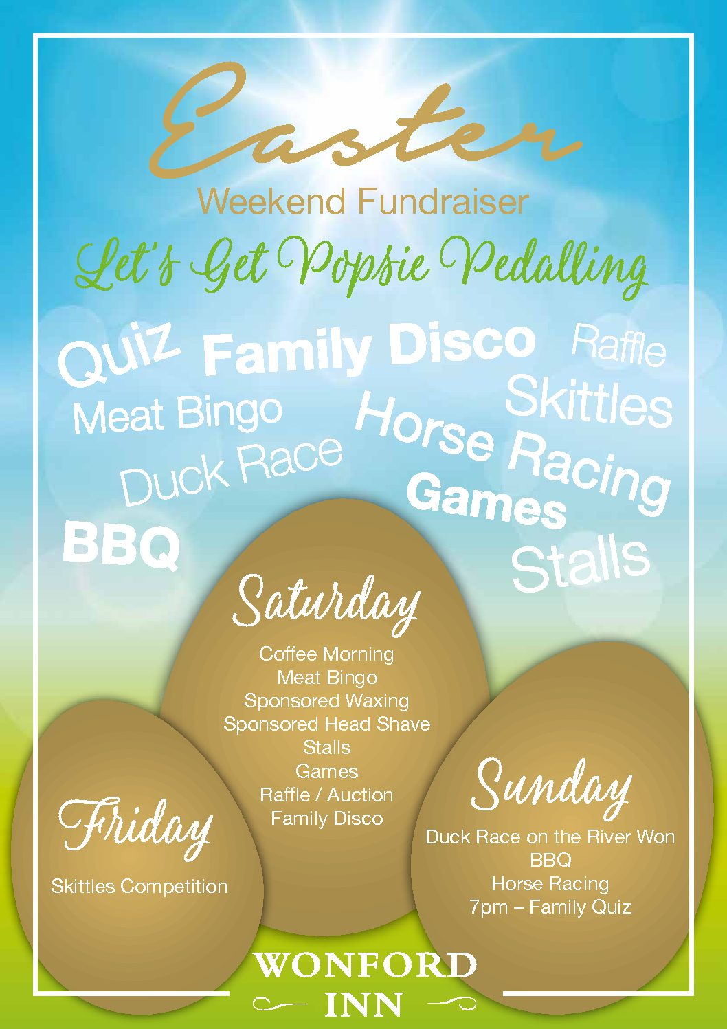 Wonford Inn Easter Charity Event