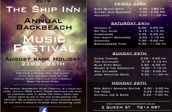 Music Festival - AUG 2019 2 - Ship Inn
